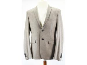 Manuel Ritz Beige Virgin Wool Blend Men's Two Button Suit Size 50 IT (40 US) Regular