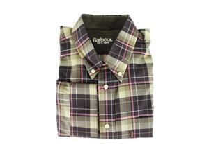 Barbour Mens Casual Shirt Size M US Regular Plaids & Checks Brown