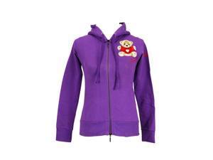 Trudi Long Sleeve Womens Hoodie Size S US Regular - Purple Cotton
