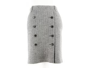 Tommy Hilfiger Womens Pencil Skirt Size 4 Regular Grey Wool