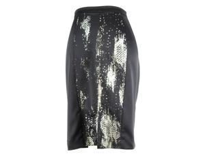 Just Cavalli Womens Pencil Skirt Size 44 Regular Animal Print Black Polyester