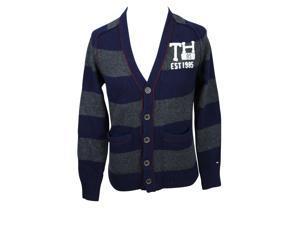 Tommy Hilfiger Mens Cardigan Sweater Size S US Regular - Blue Wool Blend