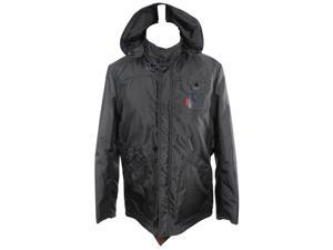 Piero Guidi Mens Jacket Size XL US - Black Nylon