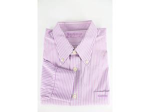 Barbour Men's Purple Cotton Dress Shirt L US Regular
