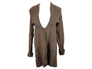 Tommy Hilfiger Womens Cardigan Sweater Size M US Regular - Brown Acrylic