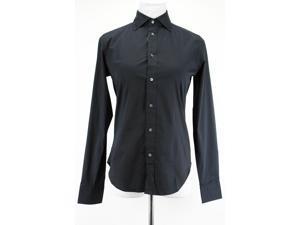Ralph Lauren Long Sleeve Womens Button Down Shirt Size 6 Regular Black Cotton