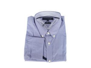 Tommy Hilfiger Mens Dress Shirt Size S US Regular Geometric Blue Cotton