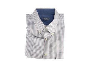 Barbour Mens Dress Shirt Size S US Regular Checkered White Cotton