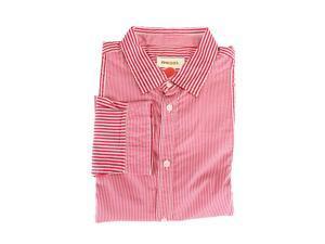 Diesel Mens Dress Shirt Size M US Regular Striped Pink Cotton