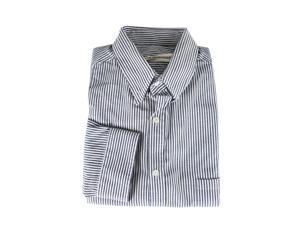 Golden Goose Mens Dress Shirt Size L US Regular Striped White Cotton