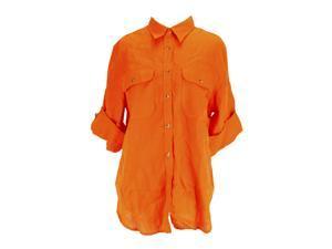 Lauren Ralph Lauren Long Sleeve Womens Button Down Shirt Size L US Regular