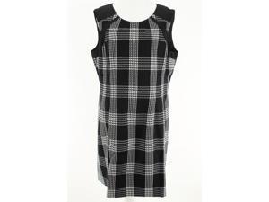 Anne Klein Womens Sleeveless Shift Dress Size 16 Regular Black Polyester Blend