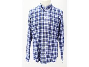 Barbour Mens Long Sleeve Dress Shirt Size S US Regular Plaid Blue Cotton