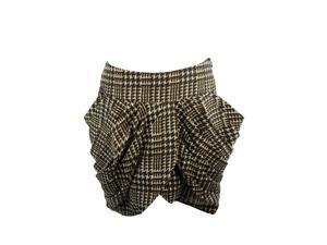 Mina Uk Womens Miniskirt Size 6 Regular Houndstooth Black Polyester