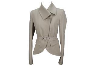 Reconditioned Pinko Womens Blazer Size 6 Regular - Beige Virgin Wool