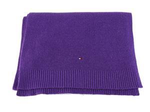 Tommy Hilfiger Mens Muffler Scarf Purple Wool