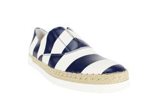 Tod's Womens Espadrille Flats Size 8 US / 38 EU White Leather
