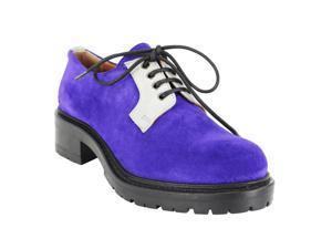 Emporio Armani Womens Oxford Flats Size 9 US / 39 EU Purple Suede