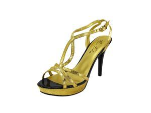 Marc Fisher Womens Toohot Heels Size 9.5 US Gold Man Made