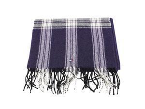 Tommy Hilfiger Mens Scarf Purple Virgin Wool