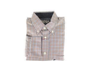 Barbour Mens Casual Shirt Size S US Regular Plaids & Checks Brown
