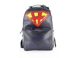 Valentino Garavani Mens Backpack - Multi-Color Blue Leather