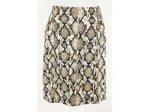 Anne Klein Womens Miniskirt Size 10 Regular - Beige Polyester Blend