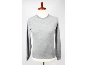 Malo Mens Crewneck Sweater Size 52 Regular Grey Wool