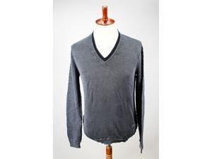 Tommy Hilfiger Mens V-Neck Sweater Size M US Regular Grey Cotton