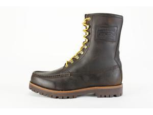 Ralph Lauren Wakely Brown Military Men's Shoes, 11