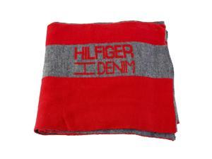 Tommy Hilfiger Mens Scarf Red Acrylic