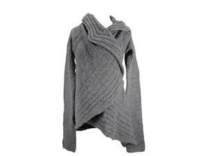 Patrizia Pepe Womens Cardigan Sweater Size 2 Regular - Grey Acrylic