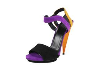 Gucci Womens Open Toe Heels Size 8 US / 38 EU Purple Leather
