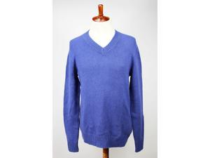 Tommy Hilfiger Mens V-Neck Sweater Size L US Regular Blue Cotton