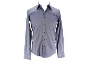 Alea Mens Long Sleeve Dress Shirt Size 39 US Slim - Grey Cotton