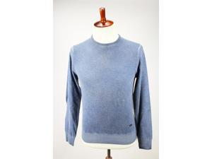 Heritage Mens Crewneck Sweater Size 58 Regular Blue Virgin Wool