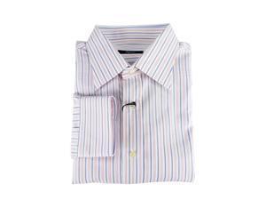 Ingram Men's White Cotton Dress Shirt 18/45 US Regular