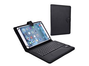 """Cooper Cases (TM) Infinite Executive 9"""" - 10.1"""" inch Tablet Bluetooth Keyboard Folio in Black (Pleather Cover, Built-in Stand, QWERTY Keyboard, Rechargeable Battery)"""