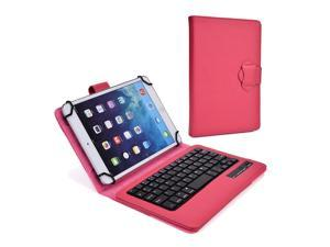 """Cooper Cases (TM) Infinite Executive 9"""" - 10.1"""" inch Tablet Bluetooth Keyboard Folio in Rose Red (Pleather Cover, Built-in Stand, QWERTY Keyboard, Rechargeable Battery)"""