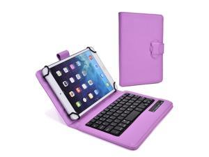"""Cooper Cases (TM) Infinite Executive 9"""" - 10.1"""" inch Tablet Bluetooth Keyboard Folio in Light Purple (Pleather Cover, Built-in Stand, QWERTY Keyboard, Rechargeable Battery)"""