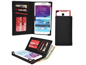 "Cooper Cases(TM) PIX Universal 5 - 5.7"" Smartphone Wallet Case in Black (Sliding Frame for Rear-camera Access&#59; Multiple Credit Card Slots & Slip Pockets)"