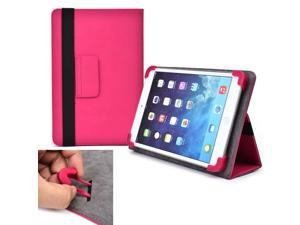 "Cooper Cases (TM) Infinite Elite Universal 7"" - 8"" Tablet Folio Case in Hot Pink (Universal Fit, Built-in Viewing Stand, Elastic Strap Cover Lock)"