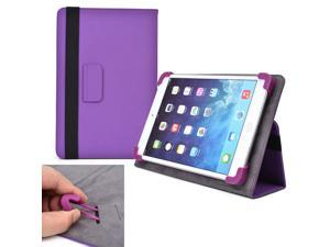 "Cooper Cases (TM) Infinite Elite Universal 7"" - 8"" Tablet Folio Case in Purple (Universal Fit, Built-in Viewing Stand, Elastic Strap Cover Lock)"