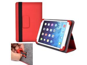 "Cooper Cases (TM) Infinite Elite Universal 7"" - 8"" Tablet Folio Case in Red (Universal Fit, Built-in Viewing Stand, Elastic Strap Cover Lock)"