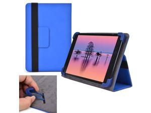 """Cooper Cases (TM) Infinite Elite Universal 7"""" - 8"""" Tablet Folio Case in Blue (Universal Fit, Built-in Viewing Stand, Elastic Strap Cover Lock)"""
