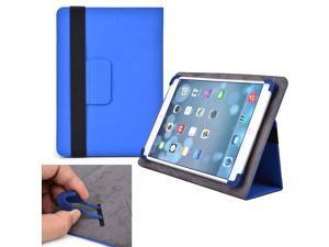 """Cooper Cases (TM) Infinite Elite Universal 9"""" - 10.1"""" Tablet Folio Case in Blue (Universal Fit, Built-in Viewing Stand, Elastic Strap Cover Lock)"""