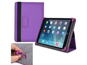 "Cooper Cases (TM) Infinite Elite Universal 9"" - 10.1"" Tablet Folio Case in Purple (Universal Fit, Built-in Viewing Stand, Elastic Strap Cover Lock)"