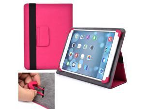 """Cooper Cases (TM) Infinite Elite Universal 9"""" - 10.1"""" Tablet Folio Case in Hot Pink (Universal Fit, Built-in Viewing Stand, Elastic Strap Cover Lock)"""