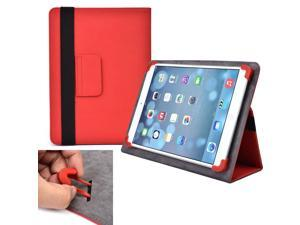 """Cooper Cases (TM) Infinite Elite Universal 9"""" - 10.1"""" Tablet Folio Case in Red (Universal Fit, Built-in Viewing Stand, Elastic Strap Cover Lock)"""