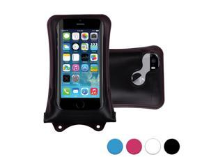 DiCAPac WP-i10 Apple iPhone 3/3G/3S/4/4S/5/5S/5C/6 Waterproof Case in Black (Double Velcro Locking System&#59; IPX8 Certified Underwater Protection up to 10M&#59; Built-in Airbag Floats & Protects Device)